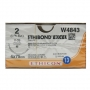 ETHIBOND 2  W4843-1/2TAPERCUT 45mm, μη απορ 75cm
